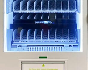 Ascensor máquina expendedora